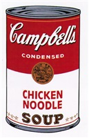 campbell's soup i: chicken noodle [ii.45] by andy warhol